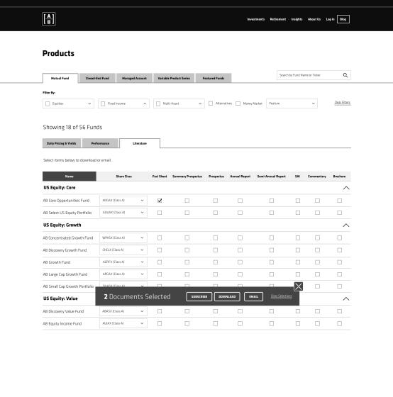 Product Finder - Literature Tab - DESKTOP